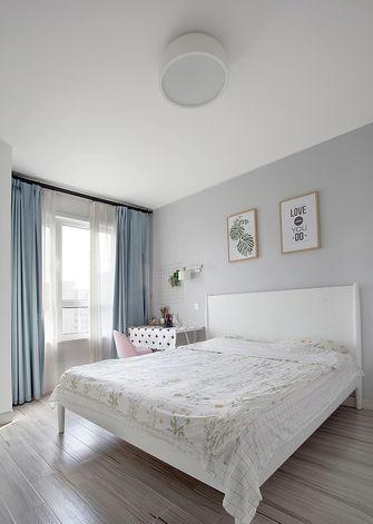 120平米三室两厅北欧风格卧室图片大全