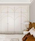 90平米三室两厅田园风格卧室装修效果图