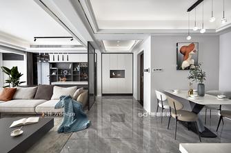 豪华型130平米三室两厅现代简约风格客厅装修图片大全