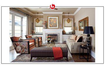90平米三美式风格客厅图片