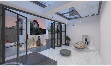 140平米三室两厅现代简约风格阳光房装修案例
