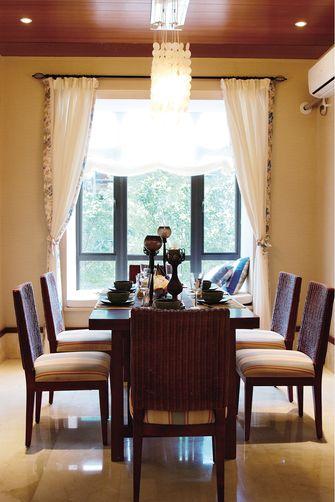 110平米三室一厅东南亚风格餐厅装修效果图