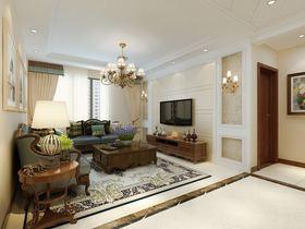 110平米三室两厅美式风格客厅图片