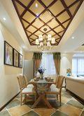 130平米三室一厅田园风格餐厅图片