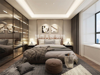 110平米三现代简约风格卧室设计图