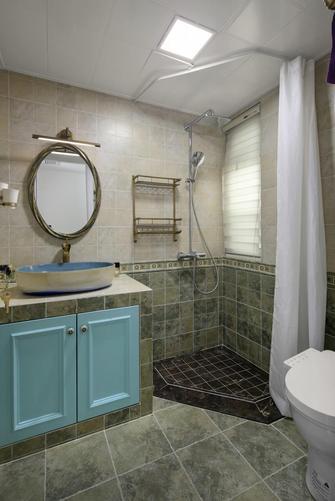 130平米三室三厅美式风格卫生间图片大全
