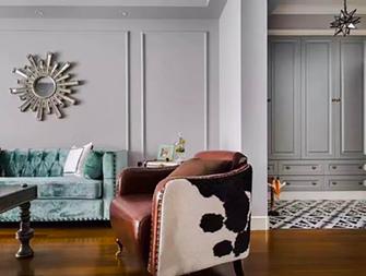 90平米三新古典风格客厅装修效果图