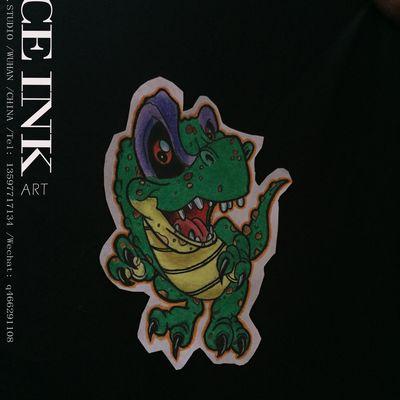 恐龙纹身款式图