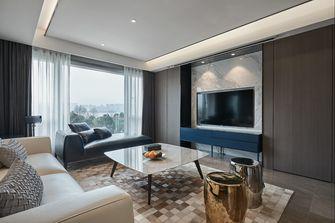 130平米三室两厅混搭风格客厅图