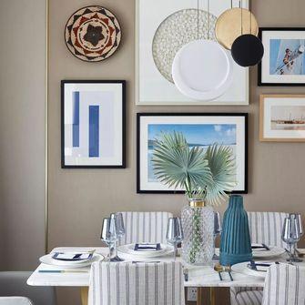 80平米三英伦风格餐厅设计图