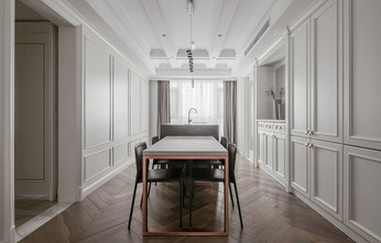 140平米三室一厅法式风格餐厅装修图片大全