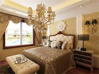 110平米三室两厅欧式风格卧室背景墙图片