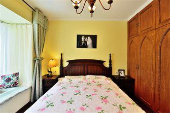 10-15万90平米三室三厅田园风格卧室装修效果图