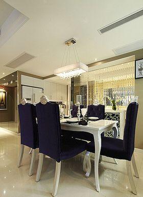 130平米三室一廳混搭風格餐廳圖片大全