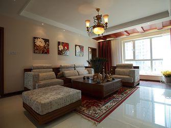 140平米三室一厅东南亚风格客厅欣赏图