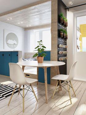 80平米三室一厅田园风格餐厅图片