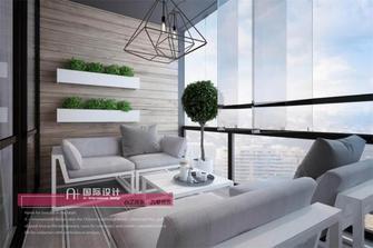 140平米三现代简约风格阳台效果图