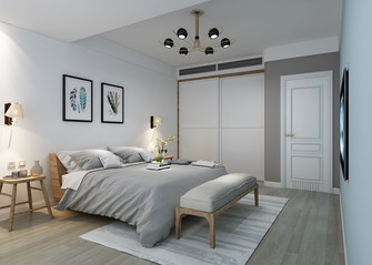 140平米复式北欧风格卧室图片