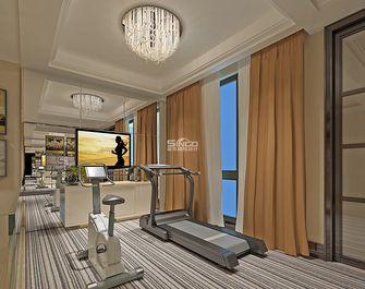 豪华型140平米别墅现代简约风格健身室飘窗图片