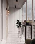 110平米三室两厅法式风格阳台装修案例