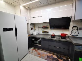 80平米三室两厅现代简约风格厨房图片