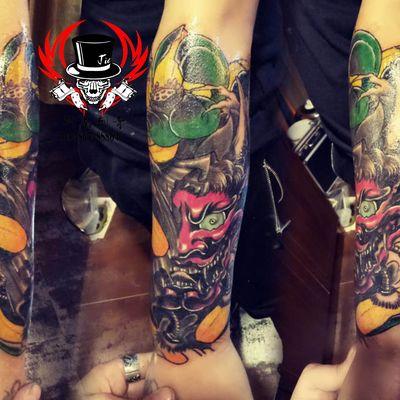 湖南-重彩般若纹身图