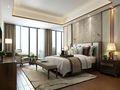 120平米四室一厅现代简约风格卧室飘窗装修案例