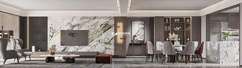 140平米四室三厅现代简约风格客厅欣赏图