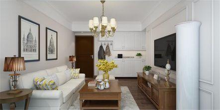 80平米三美式风格客厅设计图