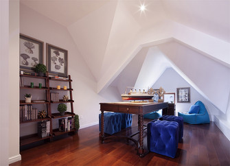 80平米三室一厅美式风格阁楼图片大全