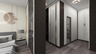 140平米三室两厅现代简约风格衣帽间欣赏图