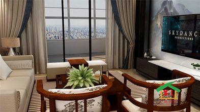 130平米四室一厅新古典风格客厅装修案例