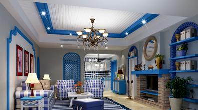 140平米四室三厅地中海风格客厅图片大全