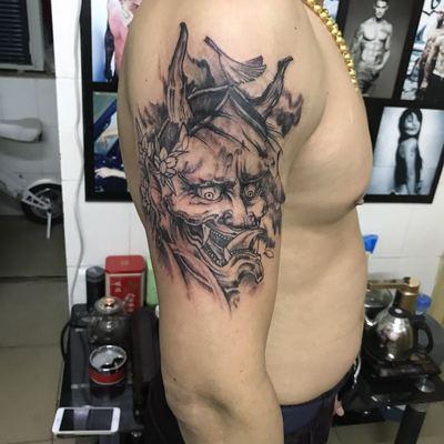 般若纹身款式图