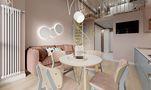 140平米复式宜家风格客厅装修案例