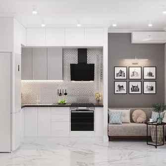 50平米一室一厅现代简约风格厨房图片大全