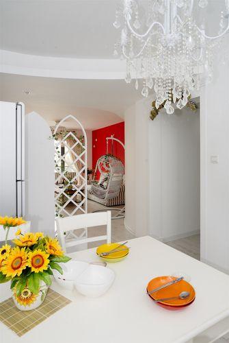 90平米三室一厅地中海风格餐厅装修效果图