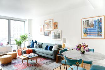 90平米三室两厅田园风格客厅装修案例