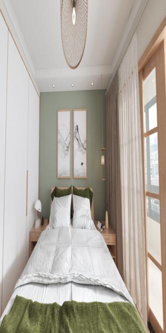 90平米三室一厅日式风格书房图