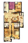 四房地中海风格欣赏图
