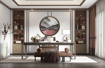 120平米三室两厅中式风格书房设计图