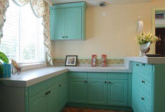 90平米田园风格厨房图片