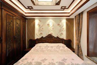 130平米三中式风格卧室设计图