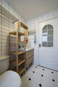 70平米一室一厅田园风格卫生间装修效果图