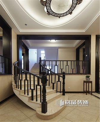 豪华型140平米三室一厅中式风格楼梯装修图片大全