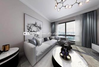 100平米复式现代简约风格客厅效果图
