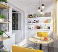 50平米一室一厅北欧风格阳光房图