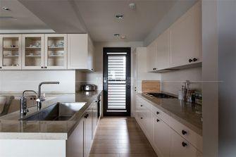 110平米三室一厅日式风格厨房欣赏图