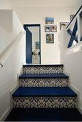 富裕型110平米三室三厅混搭风格楼梯效果图
