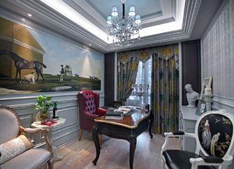 140平米三室两厅田园风格书房图片